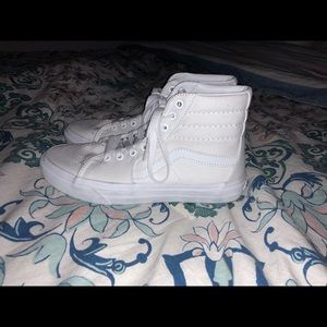 White Hightop vans